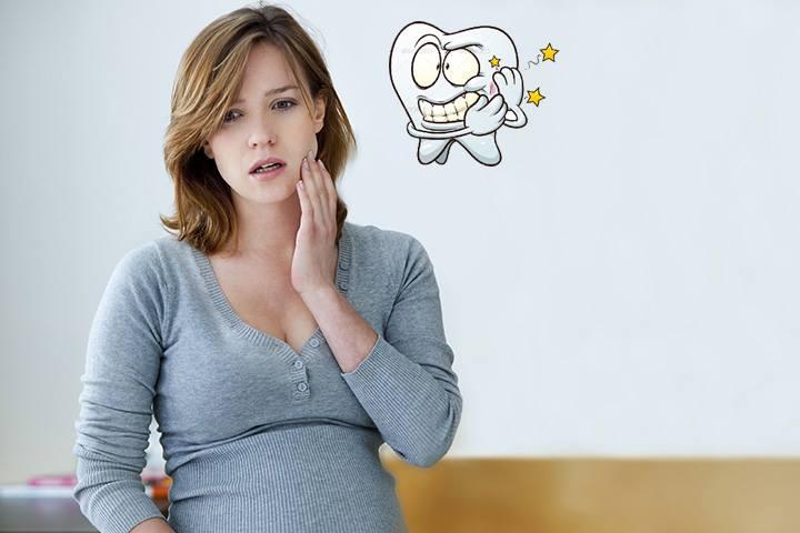 Bị gãy răng khi mang thai 1